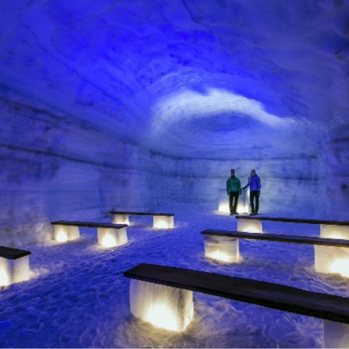 Inside the Glacier – Langjökull Icecave