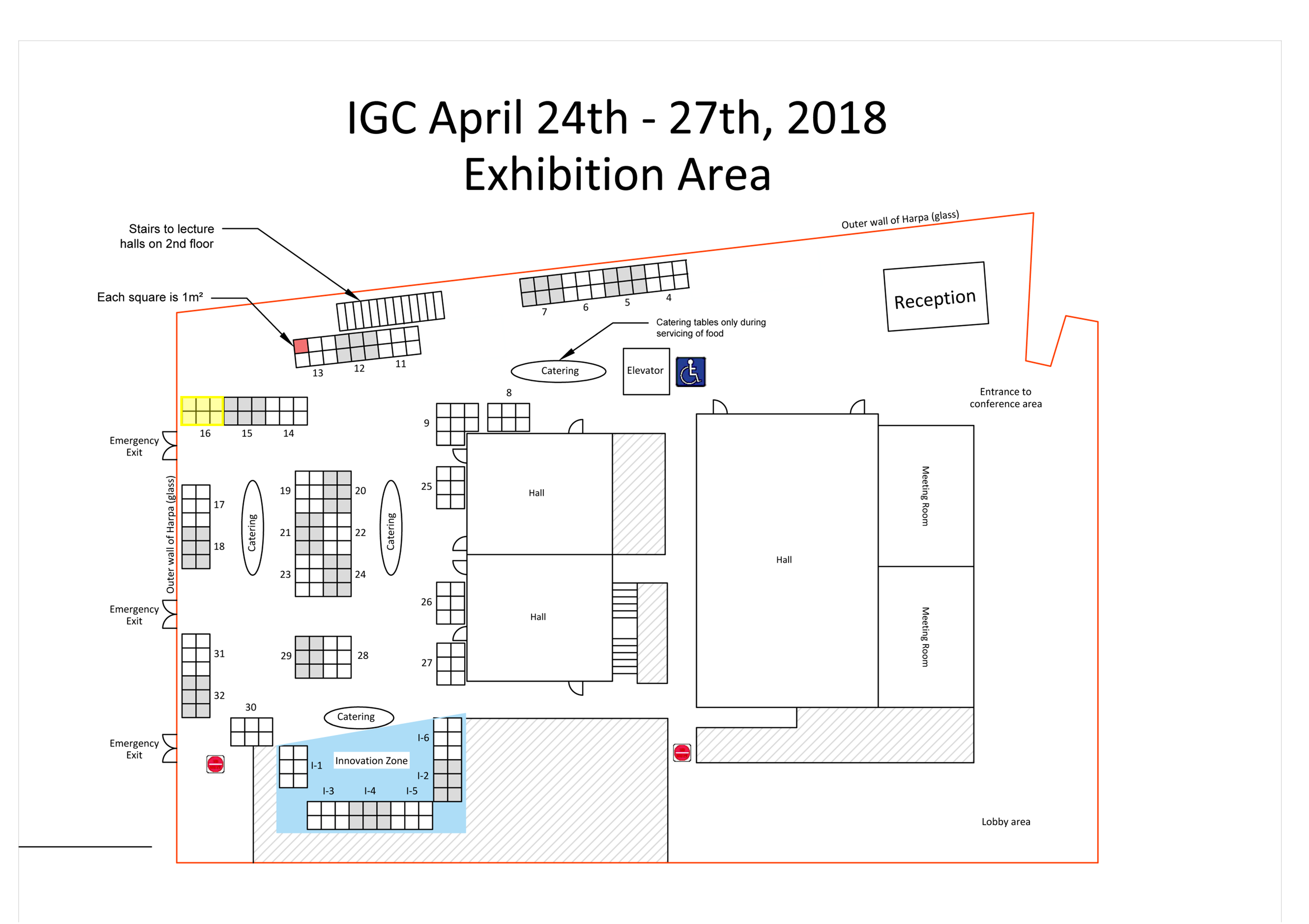 Exhibition Area IGC 2018 - Harpan